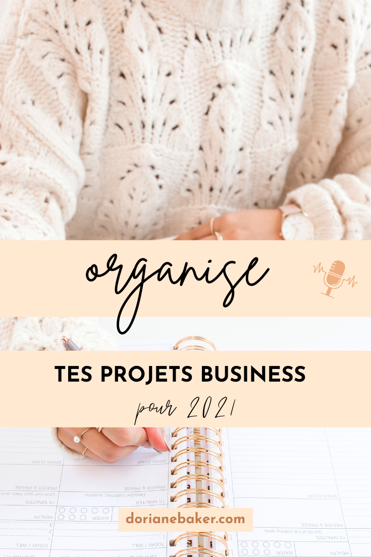 organise tes projets business